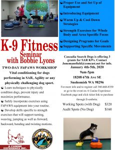 Flyer for FitPaw Workshop January 2020